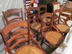 SET OF CANED SEAT CHAIRS
