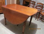 WALNUT DROP LEAF DINING TABLE WITH LEAVES