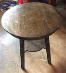 ARTS AND CRAFTS ROUND LAMP TABLE