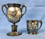 Victorian Silver childs chalice & cup.