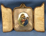 Russian Silver and Mother of Pearl Icon in fitted case