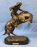 Bronze of Bronco Buster.  23 in. tall