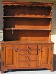 Early 1800's pine pewter cabinet