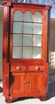 Early 1800's two piece corner cupboard