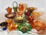 Grouping of Carnival and other glass