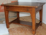 Signed Limbert orig. finish 1/4 sawn oak library table
