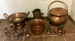 GROUPING OF COPPER KITCHENWARE